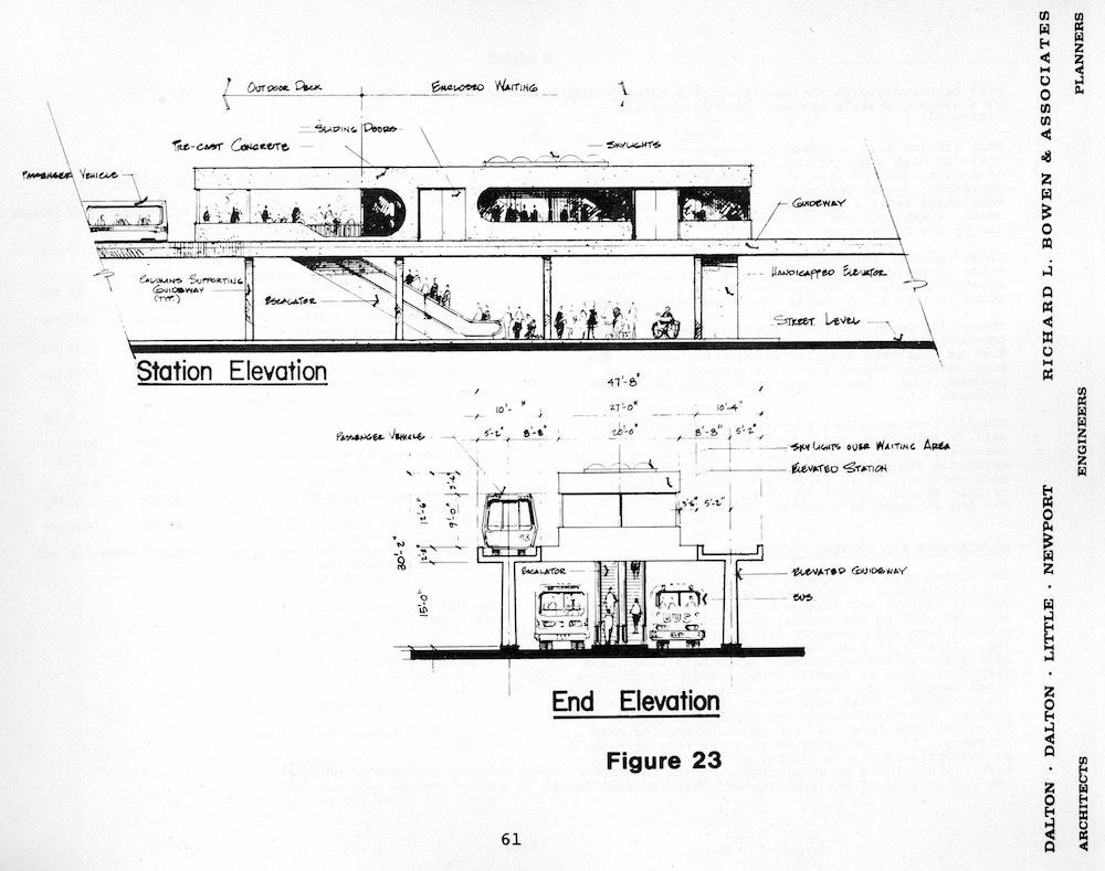 Elevation Schematic for Cleveland DPM, 1976