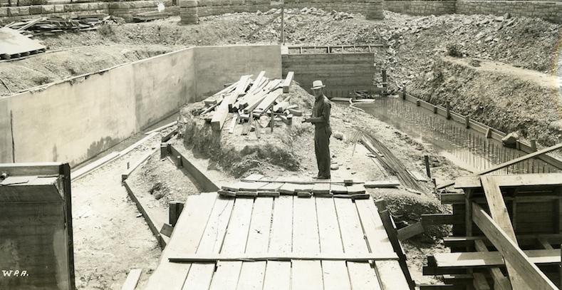 Sea Lion Pool Construction, 1937