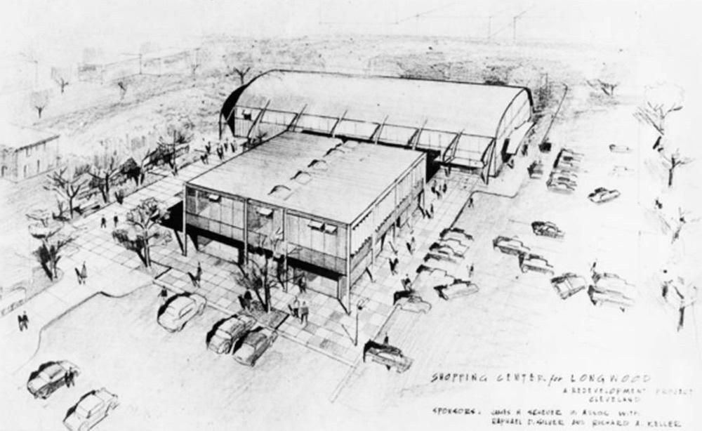 Plan for Longwood Shopping Center, 1957