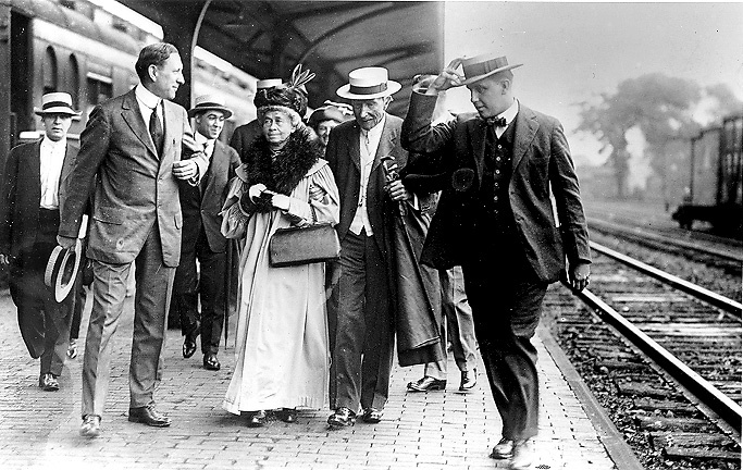 Rockefeller at Coit Road Station, East Cleveland in 1912