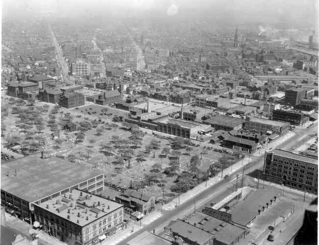 Erie Street Cemetery Aerial View