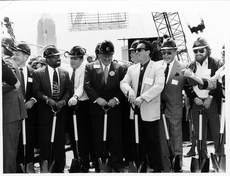 Breaking Ground for the Rock Hall, 1993