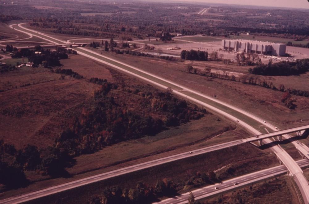 Richfield Coliseum, I-271, and the Ohio Turnpike