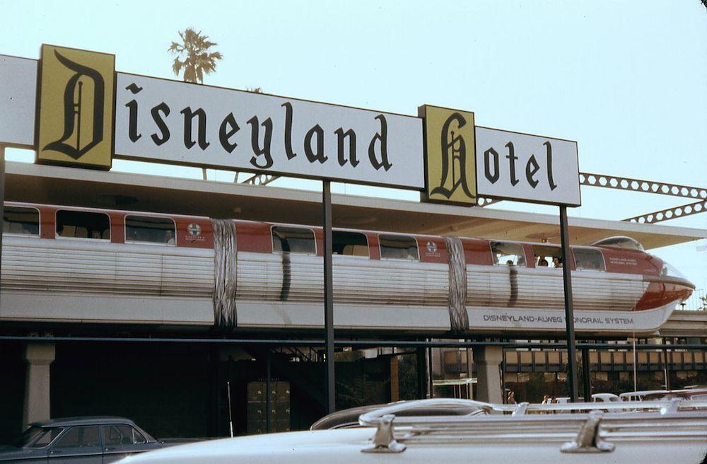 Original ALWEG Monorail at Disneyland, 1963