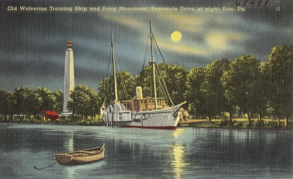 Perry Monument at Presque Isle, Erie, Pennsylvania