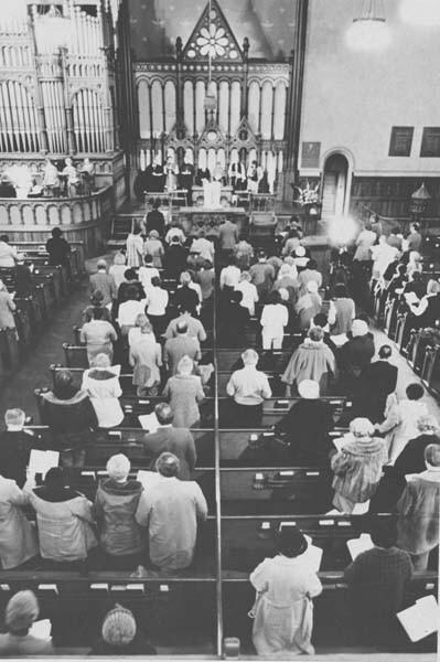 Prayer Service At Old Stone Church, 1981