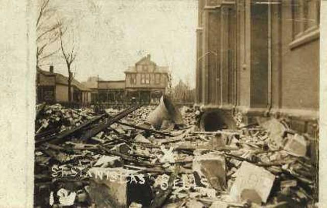 St. Stanislaus Steeples, After 1909 Tornado