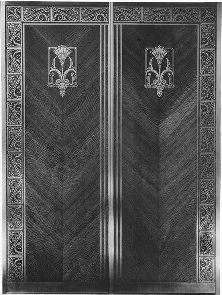 Elevator doors made by W.S. Tyler Co. for the Higbee Co.
