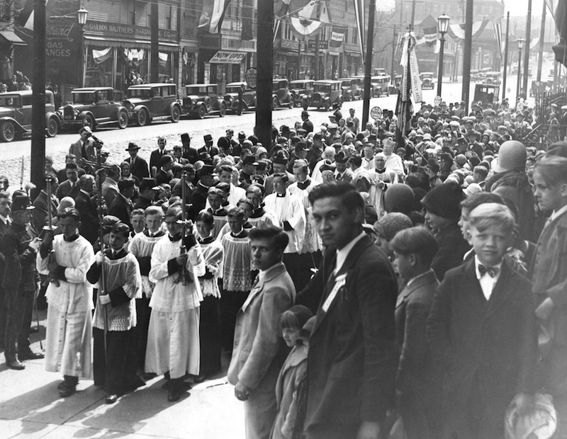 Processional Leading To St. Elizabeth's, 1930