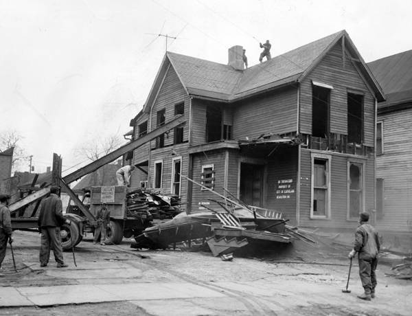 House in Longwood Renewal Area, 1955