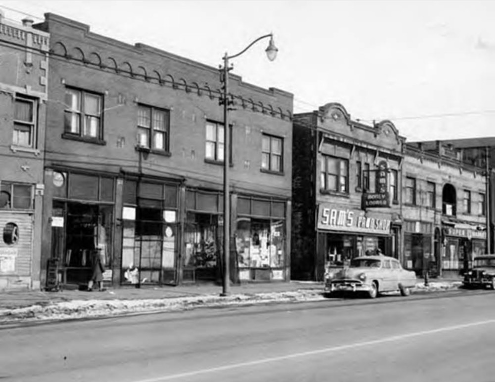 North Side of 3700 Block of Woodland Avenue, 1955
