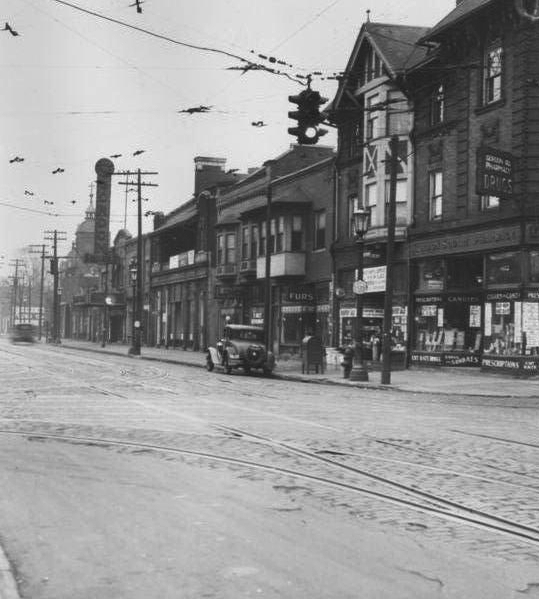 Looking East Along Detroit Avenue From West 65th Street, 1934