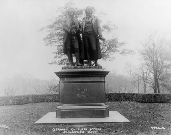 Goethe & Schiller, Nov. 1936