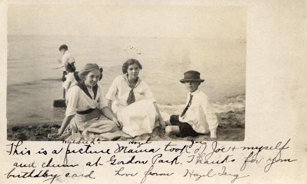 """Love From Hazel Jerg,"" Circa 1910"