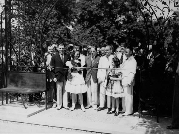 Garden Dedication, July 1938