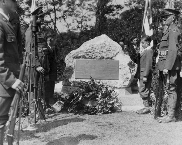 WW I Memorial Rock Dedication, 1932