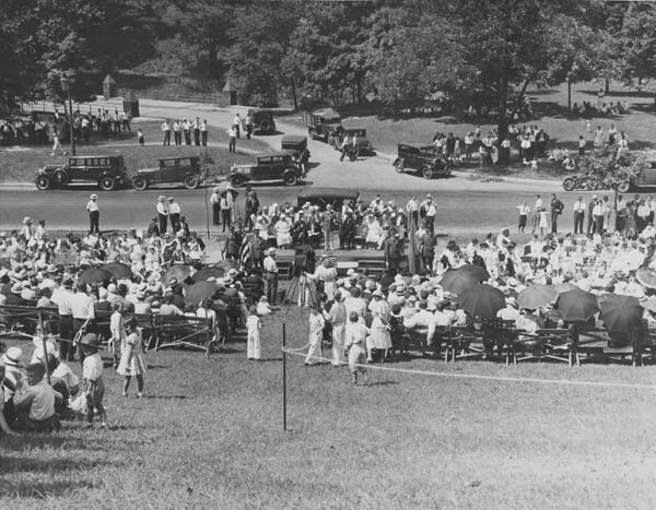 Crowd at Dedication, Circa 1930s