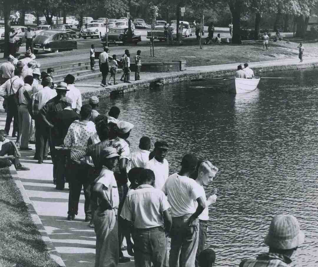 Rockefeller Park Lagoon, 1956