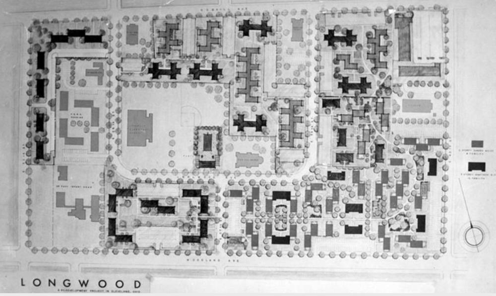 Proposed Longwood Housing Development Map, 1957