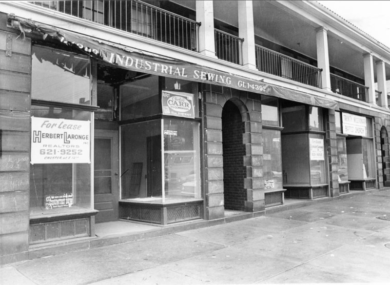 Vacant Storefronts, 1964