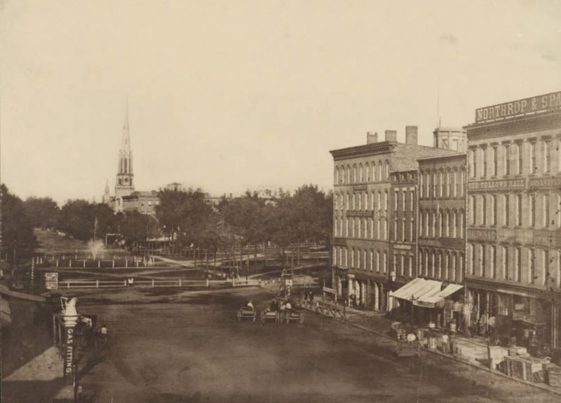 Public Square, Looking East Along Superior, 1857