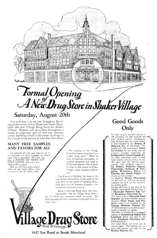 A New Drug Store, 1927