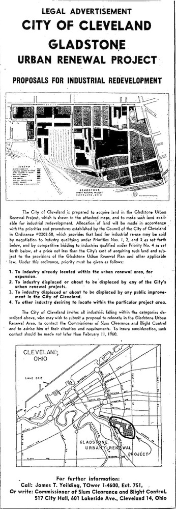 City Call for Proposals, 1960