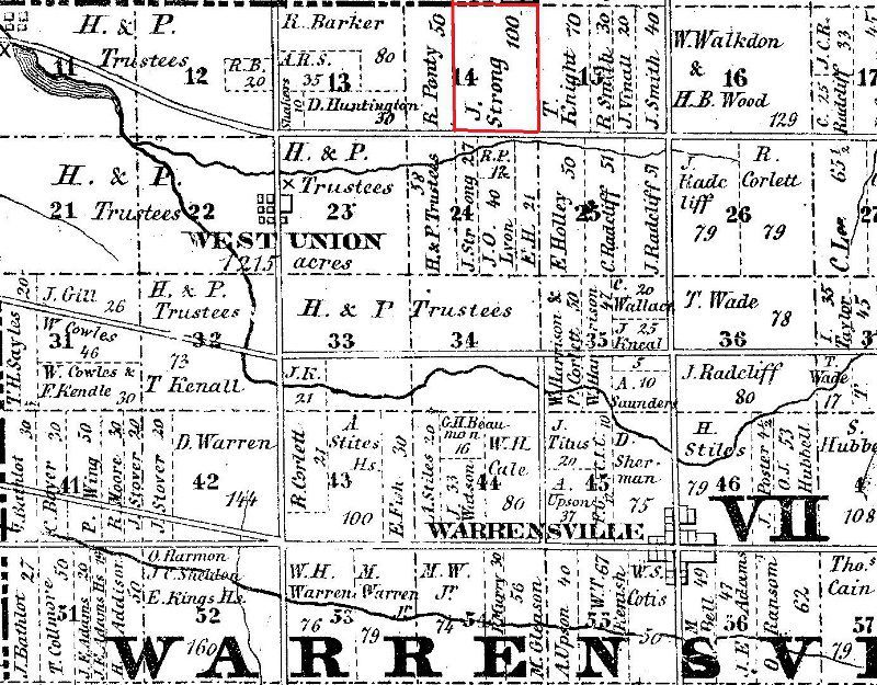 1852 Map of Warrensville Township.