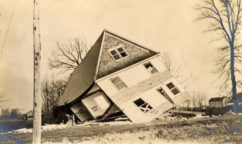 Damaged Home, April 1909
