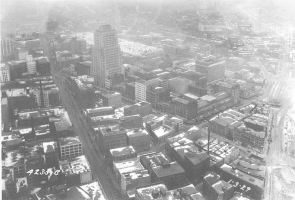 Aerial View of Ohio Bell Telephone Building, 1929
