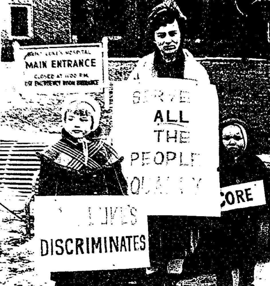 Protest at St. Luke's
