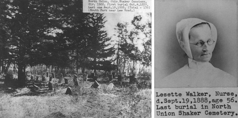 North Union Shaker Cemetery, 1900