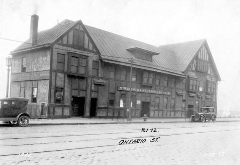 W. & L. E. Depot, Ontario Street, 1923