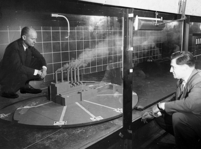 Wind Tunnel Test at NYU, 1953