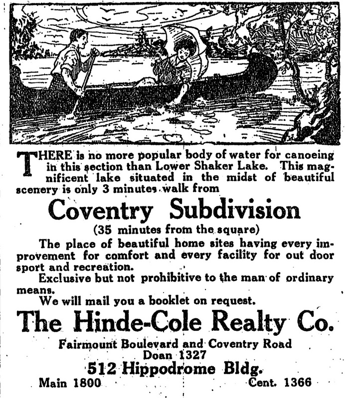 """Magnificent Lake,"" 1911 Ad"