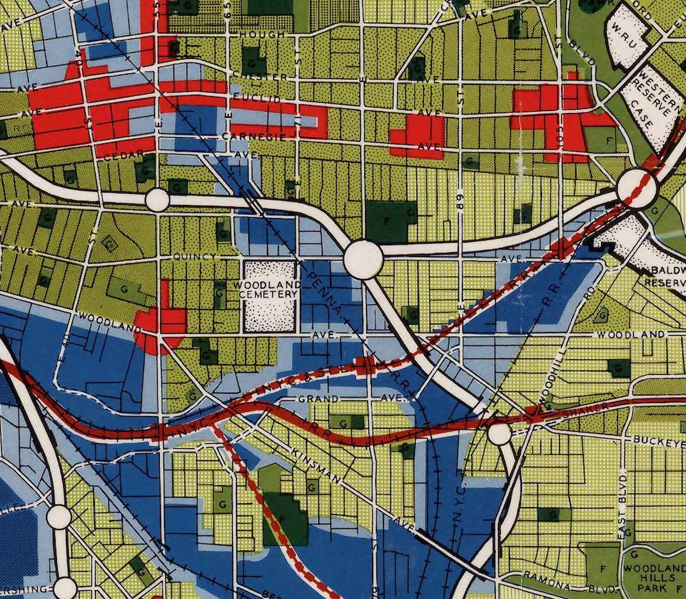 Detail of 1949 General Plan of Cleveland