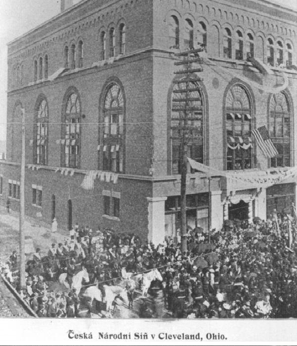 Postcard of the Bohemian National Hall