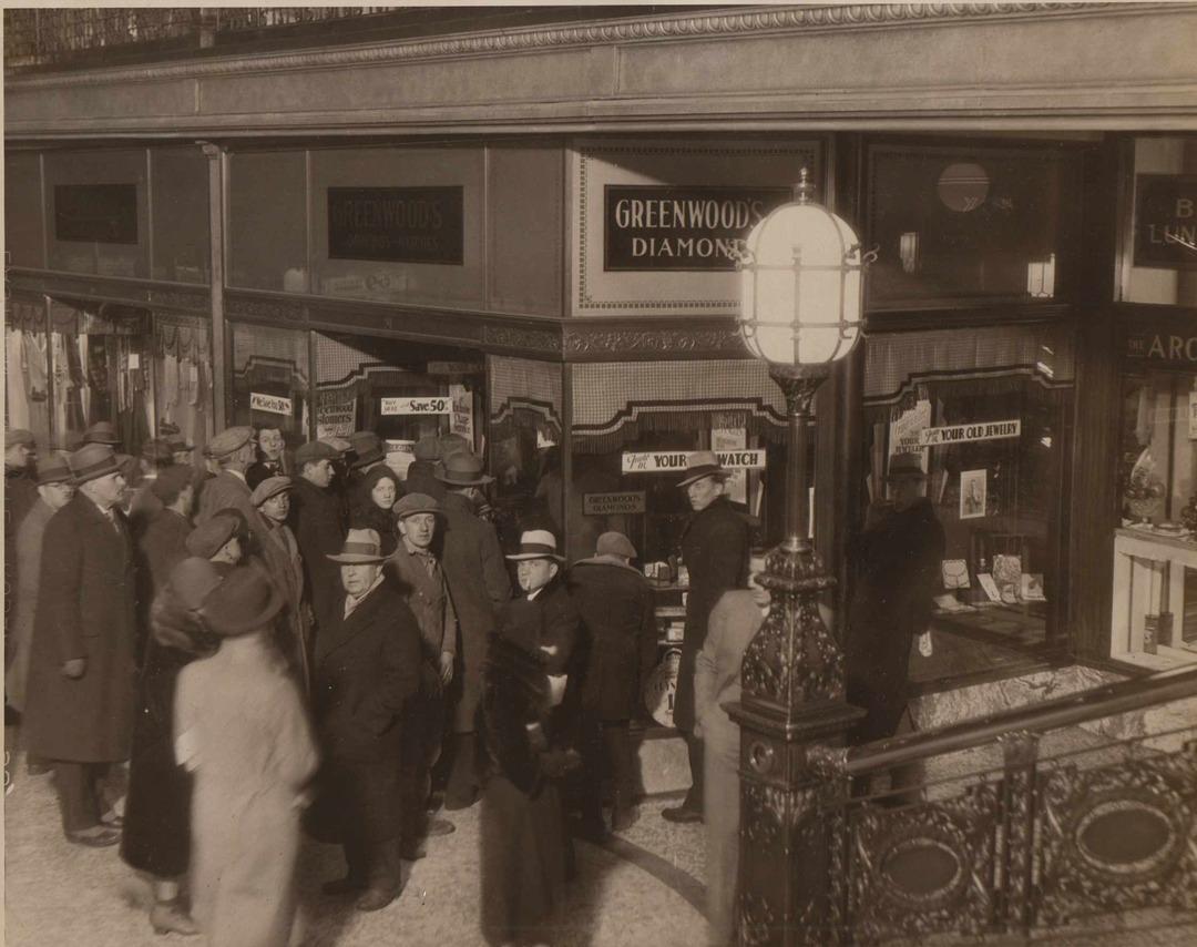 Arcade Jewelry Store, 1931