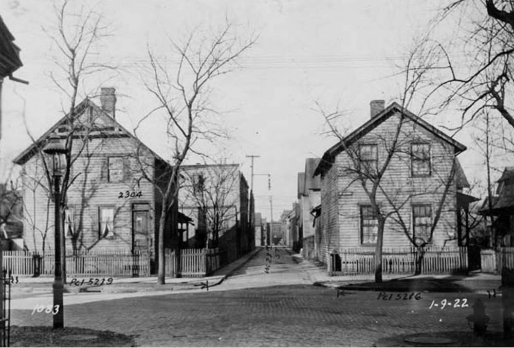 North Side of Freeman Avenue at West 23rd Street, ca., 1922