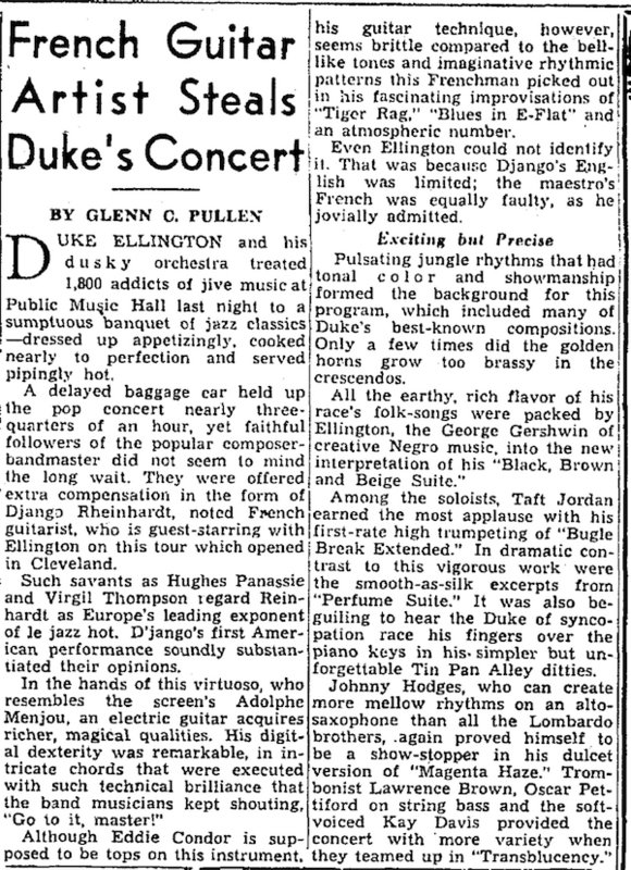 Django's Review in the Plain Dealer, 1946
