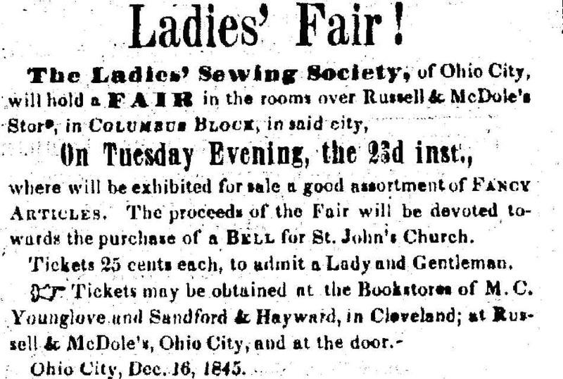 Bell Fundraiser Announcement, 1845