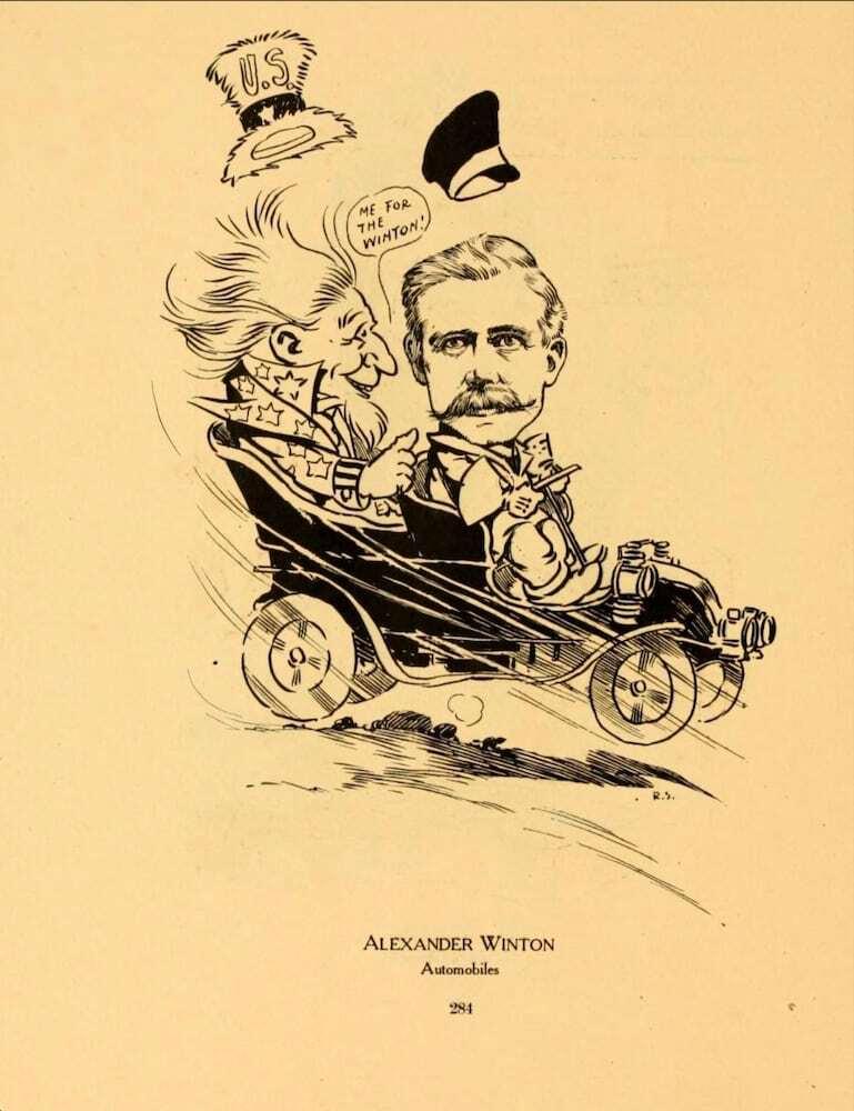 Caricature of Alexander Winton