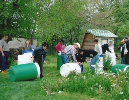 Rain Barrel Workshop Held at Community Garden