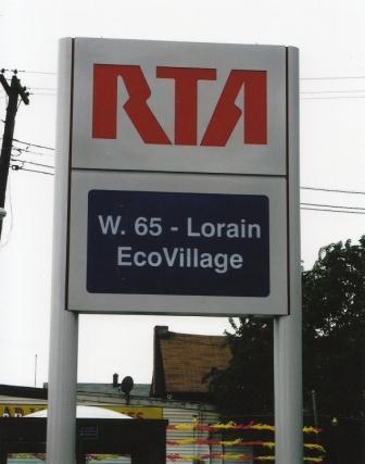 EcoVillage RTA Sign