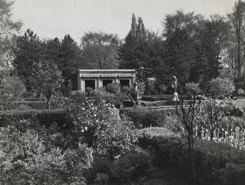 Mr. Mather in His Garden, 1941