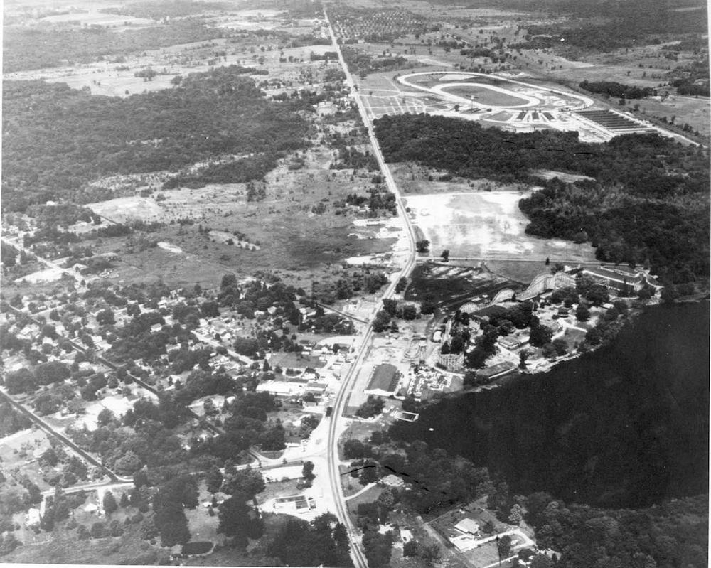 Aerial View of Geauga Lake, 1968