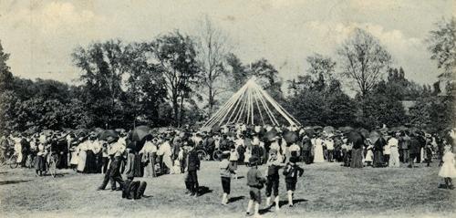 Maypole Dance in Edgewater Park, ca. 1906