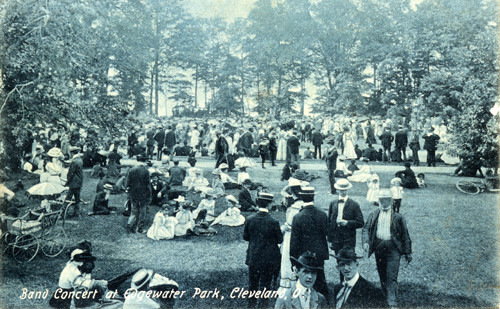 Band Concert at Edgewater Park, ca. 1908