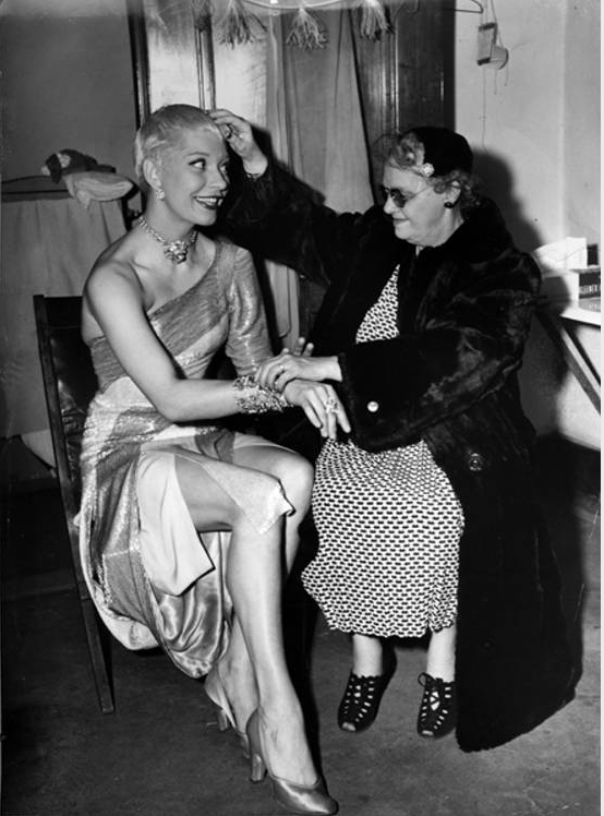 Miss Ruth K. Billow and Carol Channing