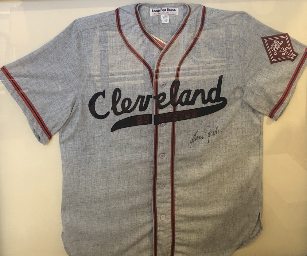 Autographed Cleveland Buckeyes Jersey